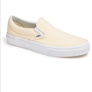Vans cream colored off white